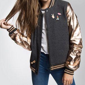 Maddie Ziegler Bomber Wool Blend Jacket